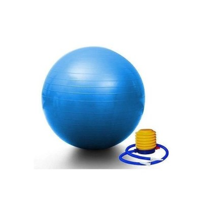 "Blue Yoga Ball 29"" 75cm Exercise Pilates Balance Gymnastic Fitness W/a"