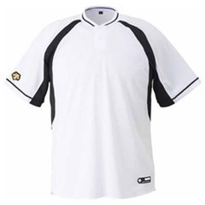 デサント ベースボールシャツ(SWBK・サイズ:O) DESCENTE 2ボタンベースボールシャツ(レギュラーシルエット) DS-DB103B-SWBK-O 【返品種別A】