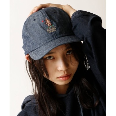 FUNALIVE / 【Well-Tailored】ベア刺繍 シャンブレーキャップ MEN 帽子 > キャップ