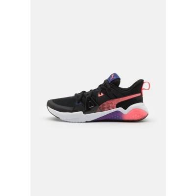 プーマ レディース スポーツ用品 CELL FRACTION - Neutral running shoes - black/ignite pink/elektro blue