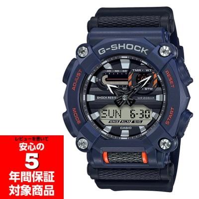 G-SHOCK GA-900-2A アナデジ メンズウォッチ 腕時計 工業モチーフ GA-900 ブラック ブルー 逆輸入海外モデル