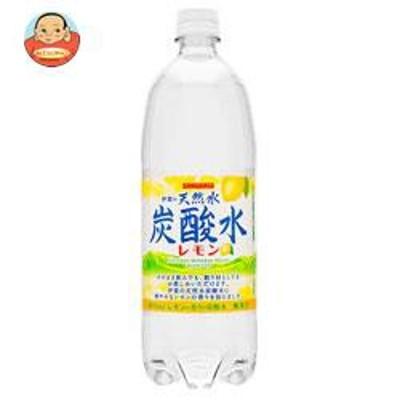 送料無料 サンガリア 伊賀の天然水 炭酸水 レモン 1Lペットボトル×12本入