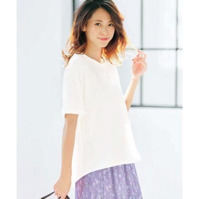 ジーラ GeeRA バックツイストTシャツ (ホワイト)