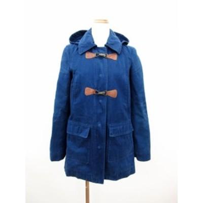 【中古】コントワーデコトニエ COMPTOIR DES COTONNIERS コート ジャケット 2WAY フード コットン 36 青 ブルー /ms レディース