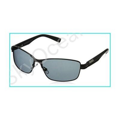 Foster Grant Men's Transport Polarized Rectangular Sunglasses, Black/Black, 140 mm【並行輸入品】