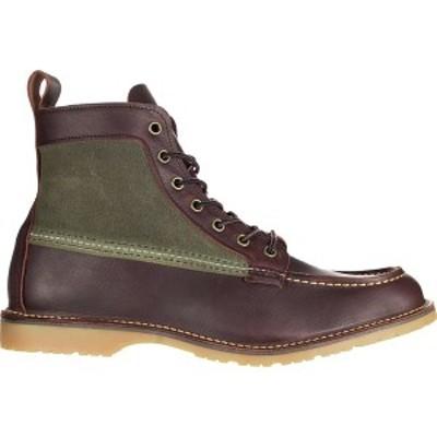 レッドウイング メンズ ブーツ&レインブーツ シューズ Wacouta Canvas Moc Boot - Men's Briar Oil Slick Leather with Olive Waxed Can