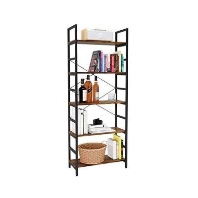 Bestier Bookshelf 5 Tier Bookcase Adjustable Shelves, Multifunctional Display Rack Storage Shelf Organizer Home Office Funiture Shelf P2 Woo