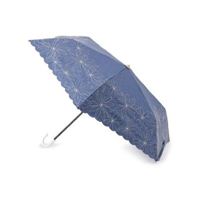 SOUP(スープ)because フラワー刺しゅう晴雨兼用折り畳み傘