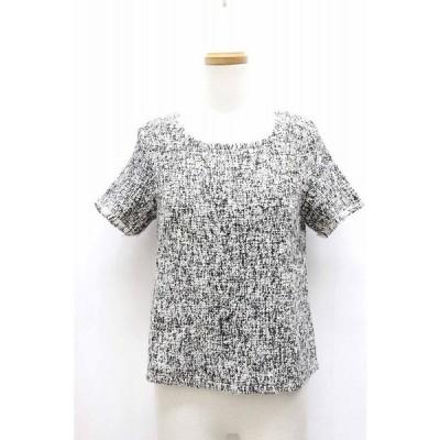 【中古】ディセイブ DECEIVE Tシャツ カットソー ツイード シンプル 半袖 F グレー 灰 /BT21 レディース 【ベクトル 古着】