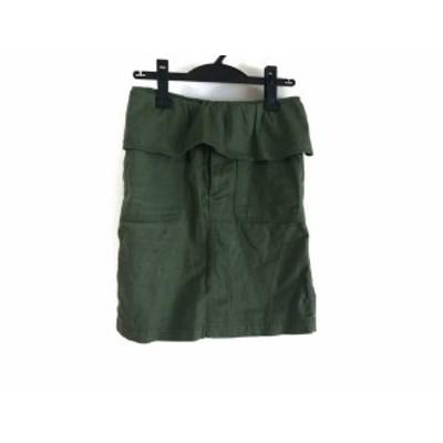 ミュベールワーク MUVEIL WORK スカート サイズ34 S レディース 美品 - カーキ ひざ丈【中古】20201007