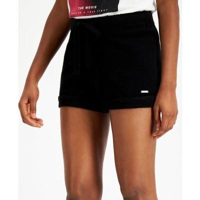 ゲス カジュアルパンツ ボトムス レディース Kaia Cuffed Drawstring Shorts Jet Black