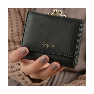 (Ungrid/アングリッド)Ungrid アングリッド 財布 二つ折り レディース がま口 WALLET ブラック ホワイト ベージュ キャメル カーキ ワイン 黒 白 UNG-50670/レディース ブラック