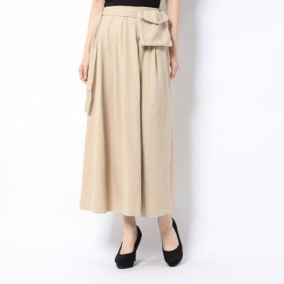 スタイルブロック STYLEBLOCK ウエストバッグ付きスカート (ベージュ)