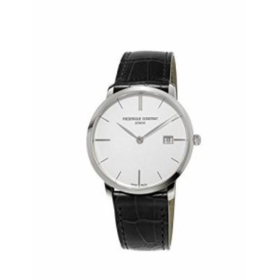 腕時計 フレデリックコンスタント メンズ Frederique Constant Slimline Men's Silver Dial Black