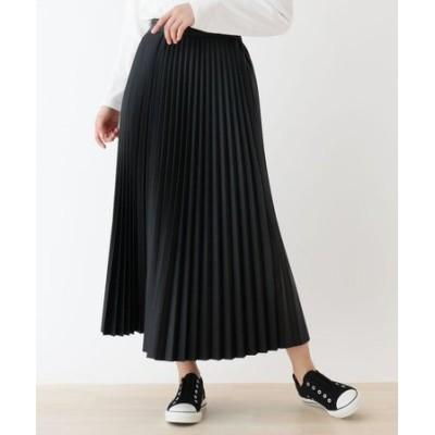 【S-L】エコレザープリーツスカート