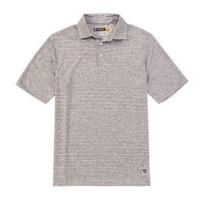 クレミュ メンズ シャツ トップス Thin Stripe Performance Short-Sleeve Polo Shirt Light Grey Heather