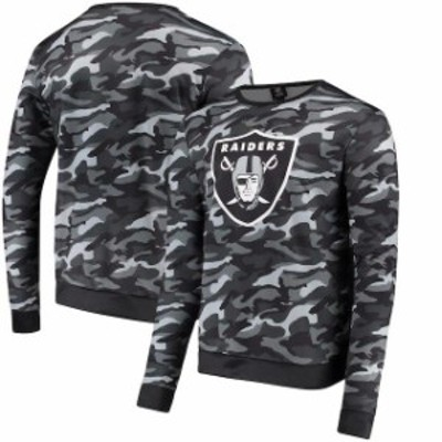 Forever Collectibles フォーエバー コレクティブル 服 スウェット Oakland Raiders Navy Camo Sweatshirt