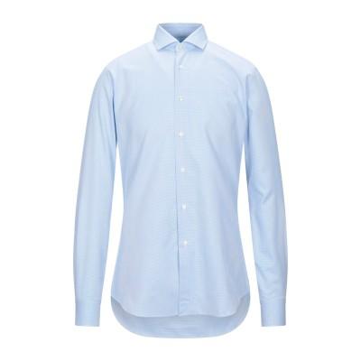 CELLINI シャツ スカイブルー 38 コットン 100% シャツ