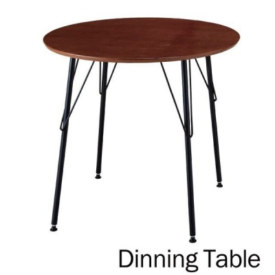 ダイニングテーブル 丸テーブル ティーテーブル ダイニング シンプル ブラウン 円形テーブル 木製 丸型 80cm 送料無料