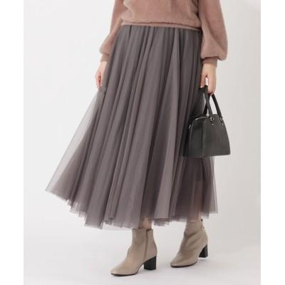 grove / 【S-LL】チュールボリュームフレアスカート WOMEN スカート > スカート