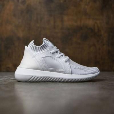 アディダス Adidas レディース スニーカー シューズ・靴 Tubular Defiant Primeknit W white/footwear white/clear granite
