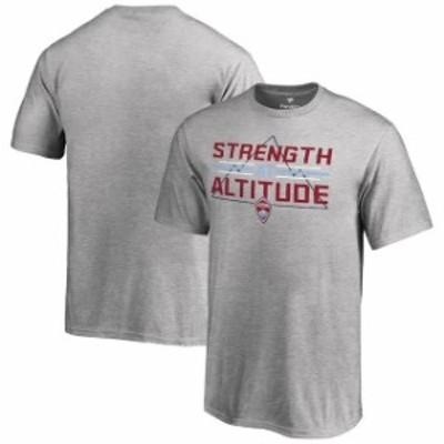 Fanatics Branded ファナティクス ブランド スポーツ用品  Colorado Rapids Youth Heather Gray Strength At Altitude T-Shirt