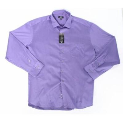 Alfani  ファッション ドレス Alfani NEW Purple Mens Size Large L Pinstripe Button Down Woven Shirt