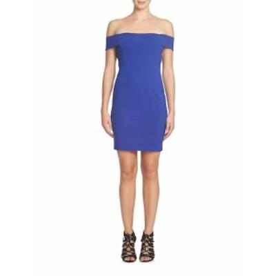 シンシアステフェ レディース ワンピース Margot Off-the-Shoulder Ponte Sheath Dress