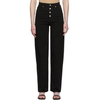 メゾン マルジェラ MM6 Maison Margiela レディース ジーンズ・デニム ボトムス・パンツ black 4-button jeans Black