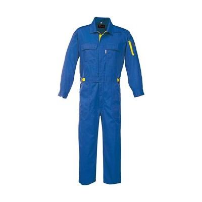 ジーベック(XEBEC) 配色つなぎ 46/ロイヤルブルー 34005 作業服 作業着 ワークウエア ワークウェア メンズ レディース