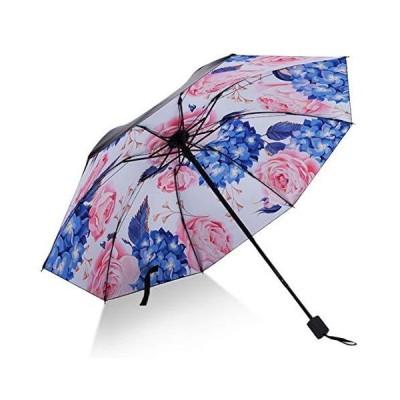 日傘 レディース 折りたたみ傘 UVカット 100% 完全遮光 花柄 晴雨兼用 紫外線カット 遮熱 大きい 100cm 日焼け対策 プレゼント ギフト