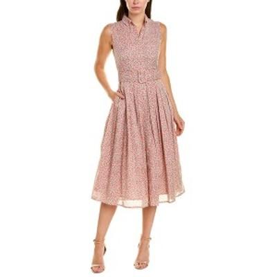 サマンサ・スン レディース ワンピース トップス Samantha Sung Audrey 2 Shirtdress white and rose petal