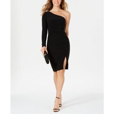 ヴィンスカムート ワンピース トップス レディース One-Shoulder Knot-Waist Dress Black