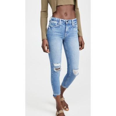 フレーム FRAME レディース ジーンズ・デニム スキニー ボトムス・パンツ Le High Skinny Crop Release Stagger Jeans Clarin Rips