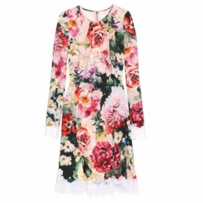 ドルチェ&ガッバーナ Dolce & Gabbana レディース ワンピース ワンピース・ドレス Floral crepe dress Papaveri/Fiori F Ner