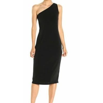 Calvin Klein カルバンクライン ファッション ドレス Calvin Klein Womens Dress Black Size 14 Sheath One-Shoulder Ruched