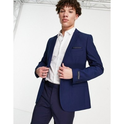 フレンチコネクション French Connection メンズ スーツ・ジャケット スリム アウター Slim Fit Plain Suit Jacket ブルー