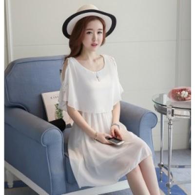 ワンピース 韓国ファッション フリル スカート Aライン シフォン パーティー きれいめ フェミニン デート セットアップ 透け感 大きいサ