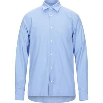 サンドロ SANDRO メンズ シャツ トップス solid color shirt Sky blue