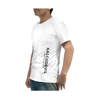 Tシャツ メンズ 男性 半袖 シャツ カジュアル 服 薄手 春夏 快適 吸汗 柔らか (ホワイト M)