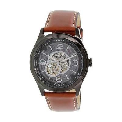 腕時計 ケネスコール Kenneth Cole メンズ KC8076 ブラウン レザー オートマチック 腕時計
