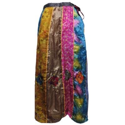 スカート アジアン衣料 ネパール・シルク・スカート29 クリックポスト選択 送料200円