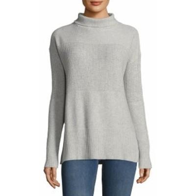 ファッション ドレス White + Warren Turtleneck Wool-Blend Sweater L Grey
