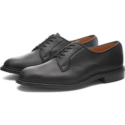 トリッカーズ Trickers メンズ 革靴・ビジネスシューズ ダービーシューズ シューズ・靴 robert derby shoe Black Olivvia Scotch Grain