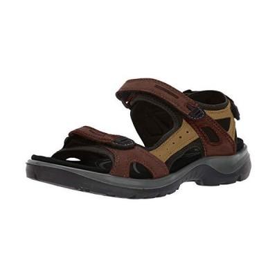 ECCO Women's Yucatan Sport Sandal, Bison/Mineral/Black, 10-10.5【並行輸入品】
