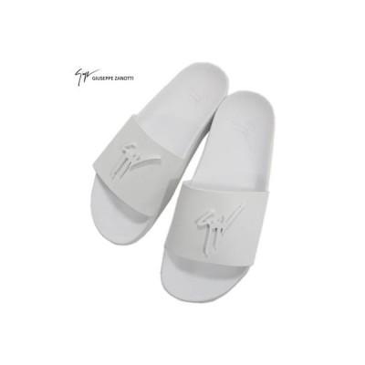 ジュゼッペザノッティ GIUSEPPE ZANOTTI メンズ 靴 サンダル シャワーサンダル ロゴ フロント・インソールロゴ入りシャワーサンダル 白 (R44000)  02S