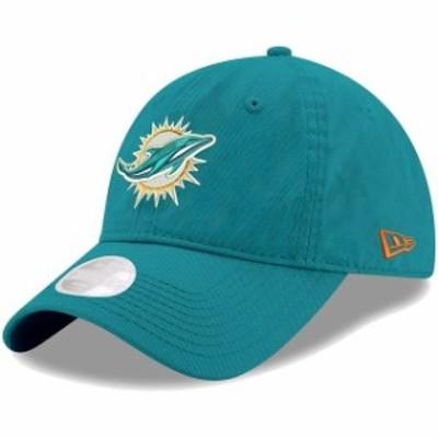 New Era ニュー エラ スポーツ用品  New Era Miami Dolphins Womens Aqua Primary Preferred Pick 9TWENTY Adjustable Hat