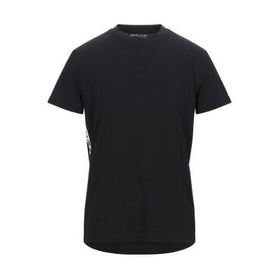VERSACE JEANS COUTURE T シャツ ブラック M コットン 100% T シャツ