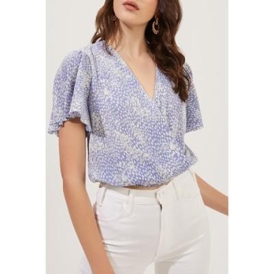 アストール レディース Tシャツ トップス Short Sleeve Plisse Top PRWKL DITS