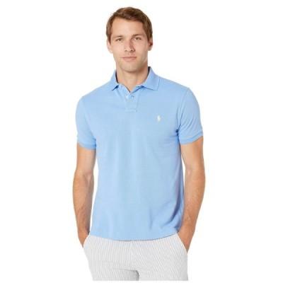 ラルフ ローレン Polo Ralph Lauren メンズ ポロシャツ トップス Basic Mesh Short Sleeve Slim Fit Knit Cabana Blue